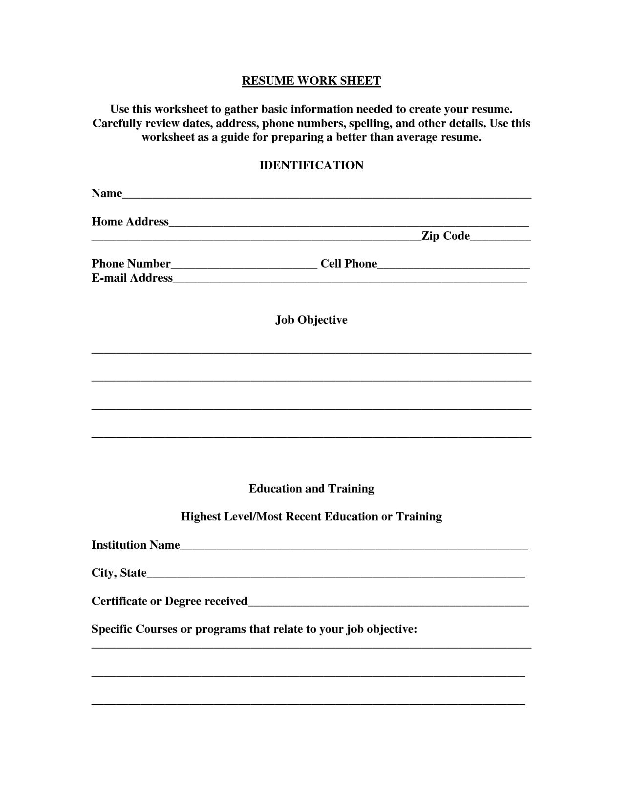 volunteer in resume sample