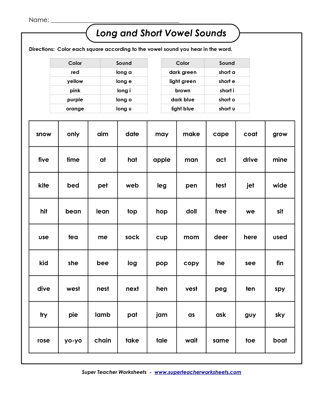 Short E Coloring Pages color by short vowel sound worksheet – Short Vowel Sound Worksheets