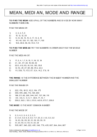 14 Best Images of Mean And Median Worksheets - Mean Median ...