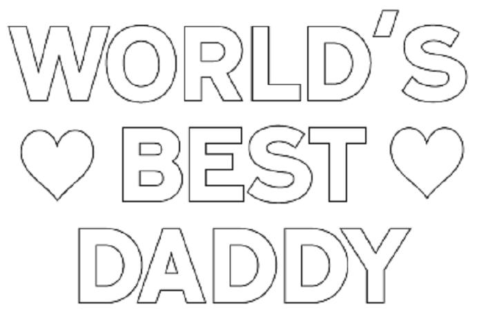 Best Dad Coloring Pages - Eskayalitim