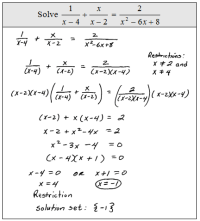 14 Best Images of Rational Equations Worksheet With ...