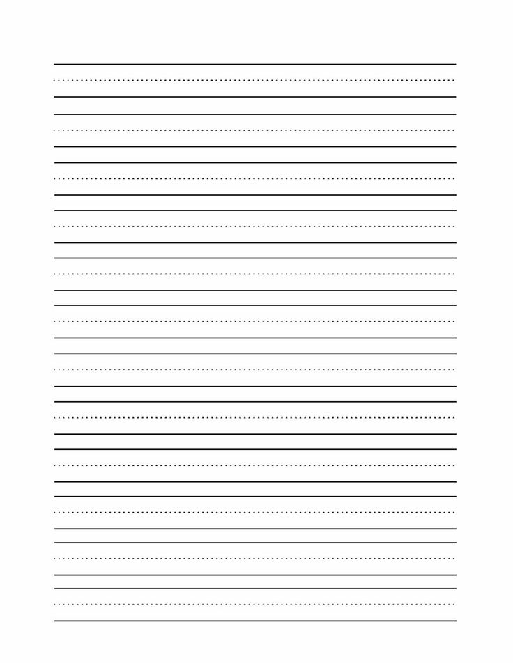 Lined paper for letter writing - Original content - printing on lined paper