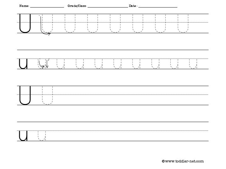 14 Best Images of Free Printable Traceable Letter Worksheets