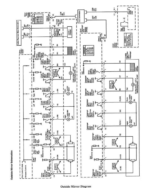 Chevy Silverado Mirror Wiring Harness Wiring Schematic Diagram