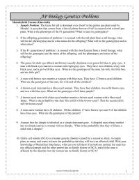 15 Best Images of Pedigree Problem Worksheet Answers ...