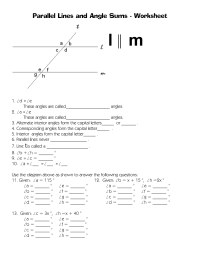 10 Best Images of Corresponding Angles Worksheet - Missing ...
