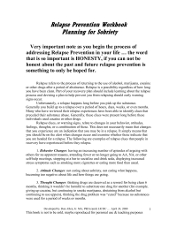 18 Best Images of Addiction Relapse Prevention Plan ...
