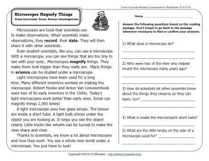 6th Grade Reading Comprehension Worksheets Ivoiregion