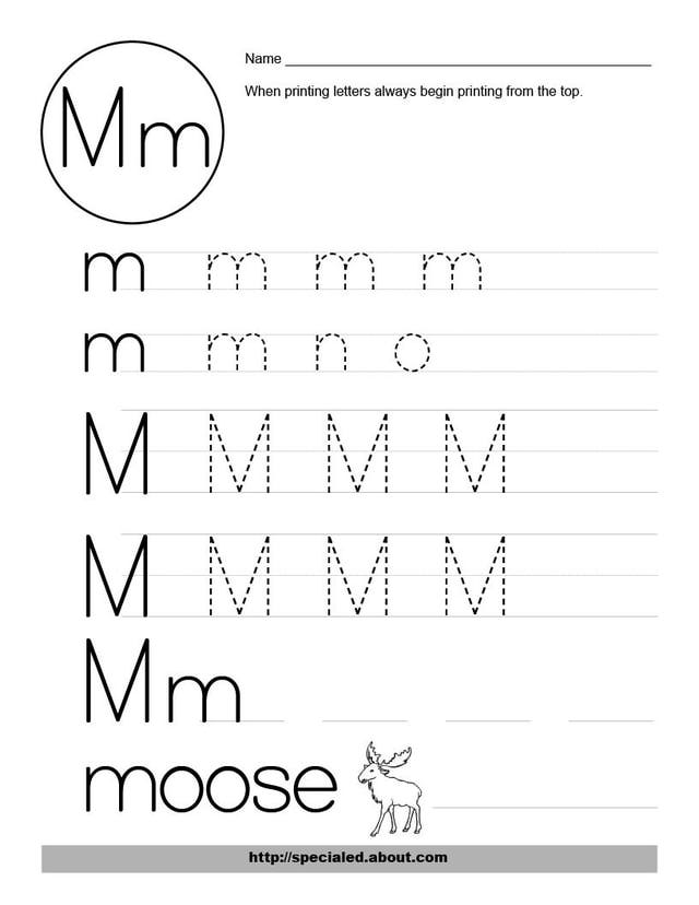 15 Best Images of Free Letter M Worksheets - Free Printable Letter M