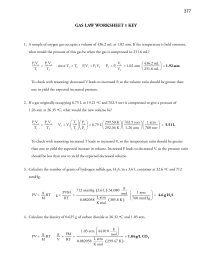 15 Best Images of Ideal Gas Law Worksheet - Ideal Gas Law ...