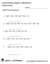 10 Best Images of Adding Polynomials Worksheet With ...
