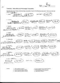 12 Best Images of Chemistry Mole Practice Worksheet
