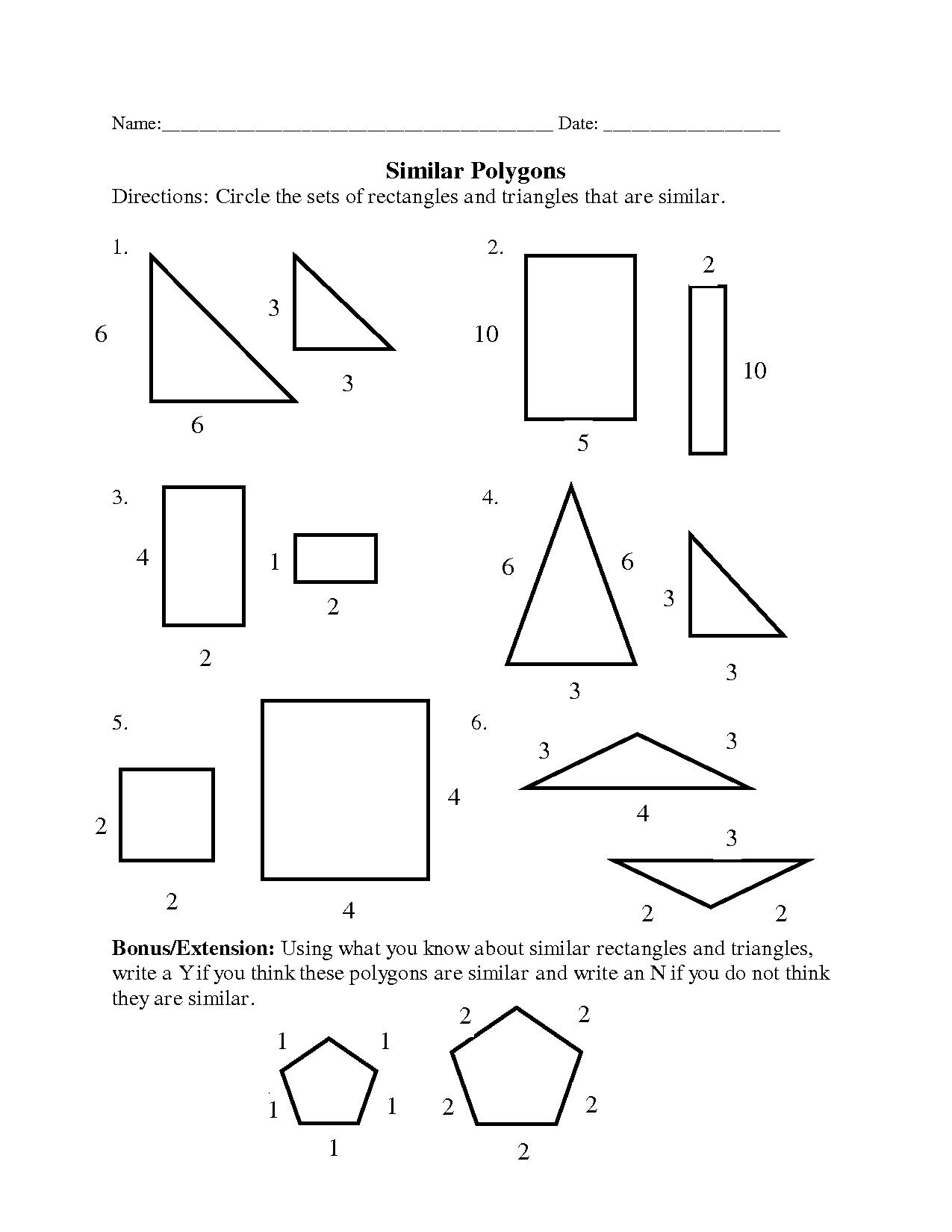 area of polygons worksheet pdf