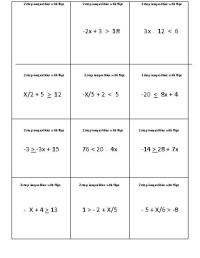 15 Best Images of Two-Step Inequalities Worksheets - One ...