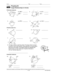 12 Best Images of Circle Arcs And Angles Worksheets ...