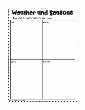 Seasons and Weather Worksheets