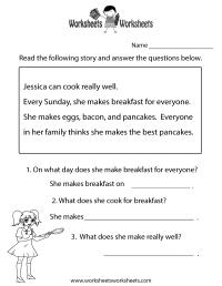 Reading Comprehension Test Worksheet - Free Printable ...