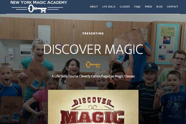 WordPress-design-NY-Magic-Academy
