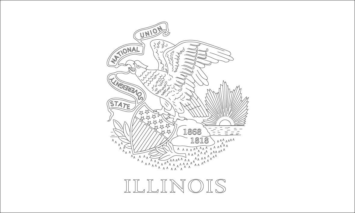 Illinois State Flag Coloring Page - Eskayalitim