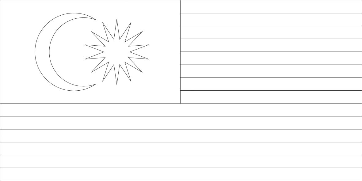 Fine Malaysia Flag Coloring Page Pattern - Resume Ideas - namanasa.com