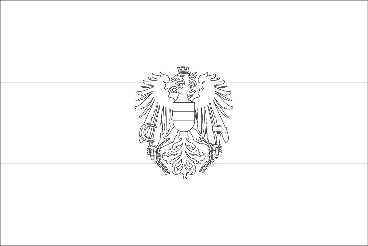 austria flag coloring page democraciaejustica cuba flag coloring page austrian flag of coloring pages