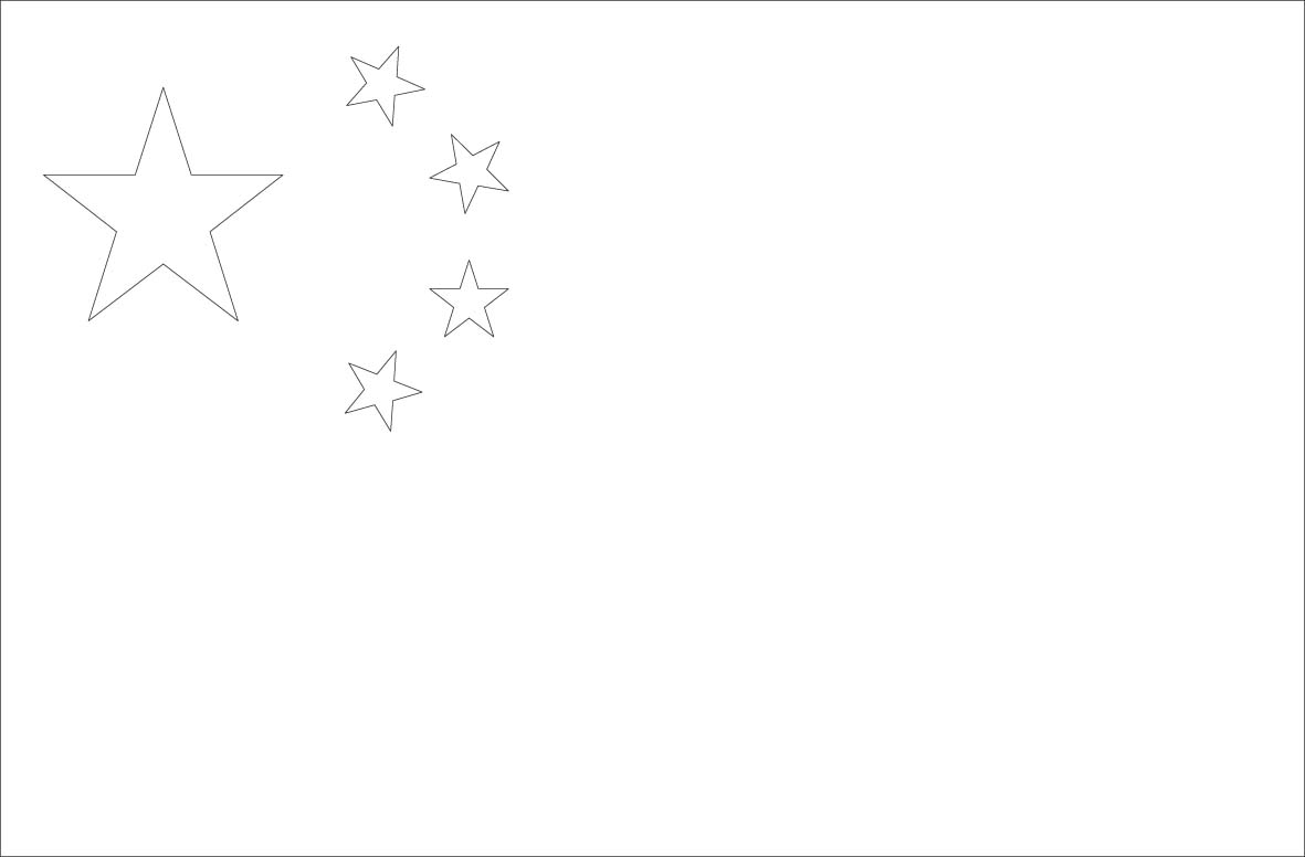 Inspiring Chinese Flag Coloring Page Photo