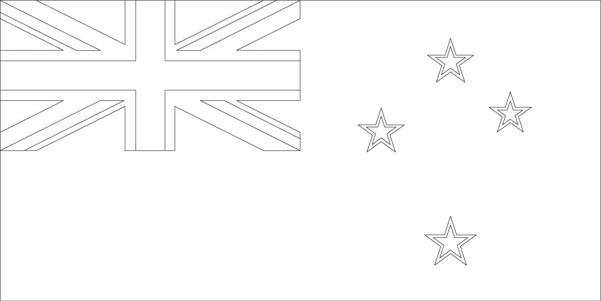 New Zealand flag coloring page  Sonlight Core C, Window on the - free passport template for kids