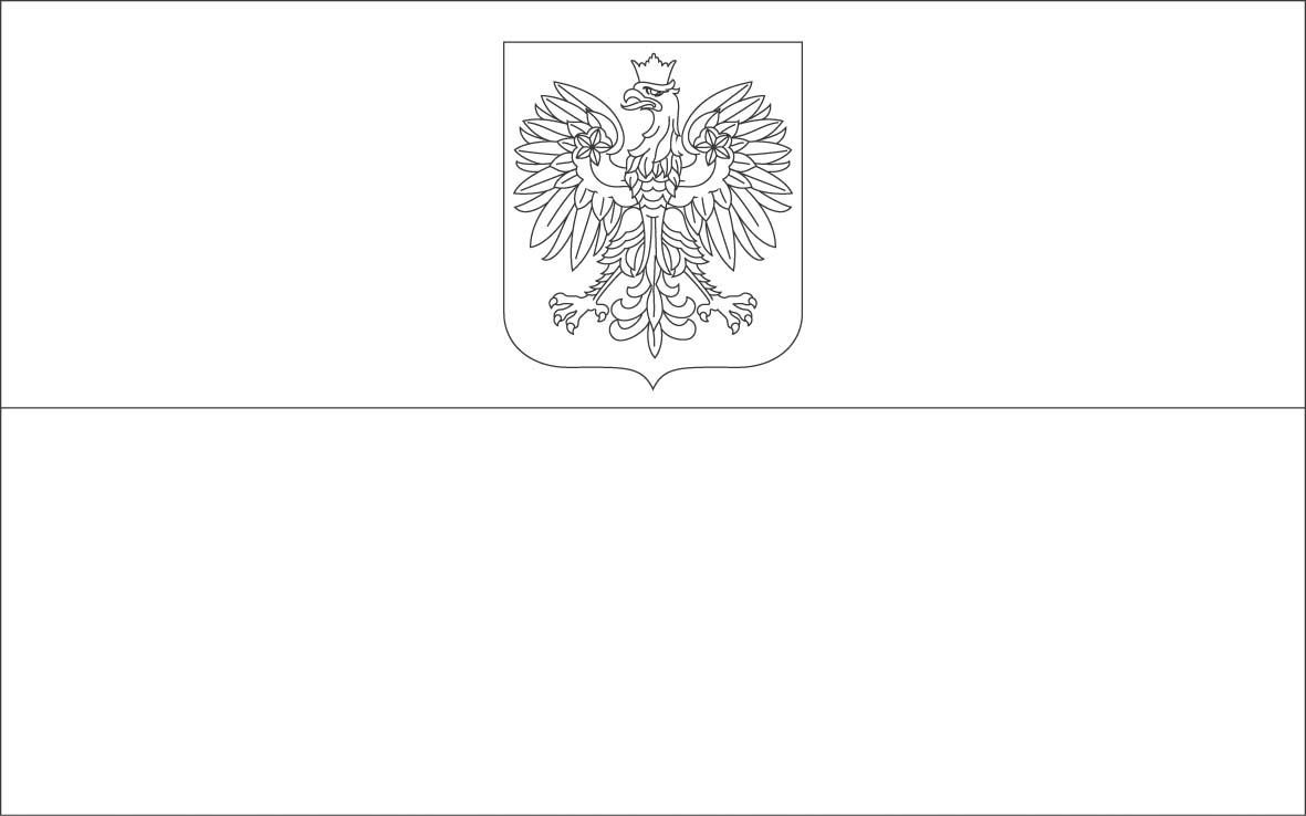 Poland Flag Free Colouring Pages