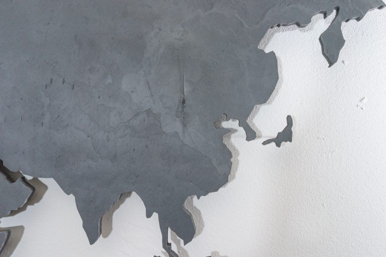 ᐅ World Map Slate black \u2022 World Map Wall Pictures