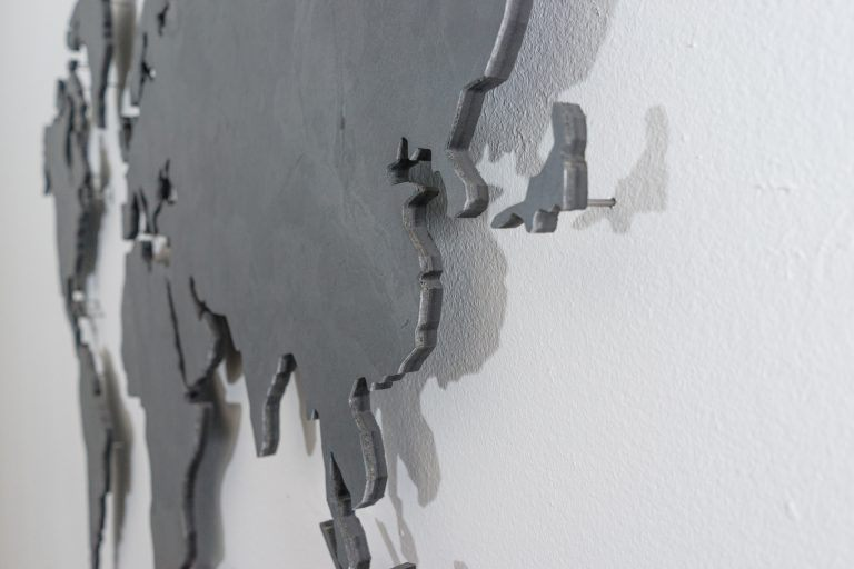 ᐅ World Map Slate black \u2022 World Map Wall Pictures - Black And Grey World Map