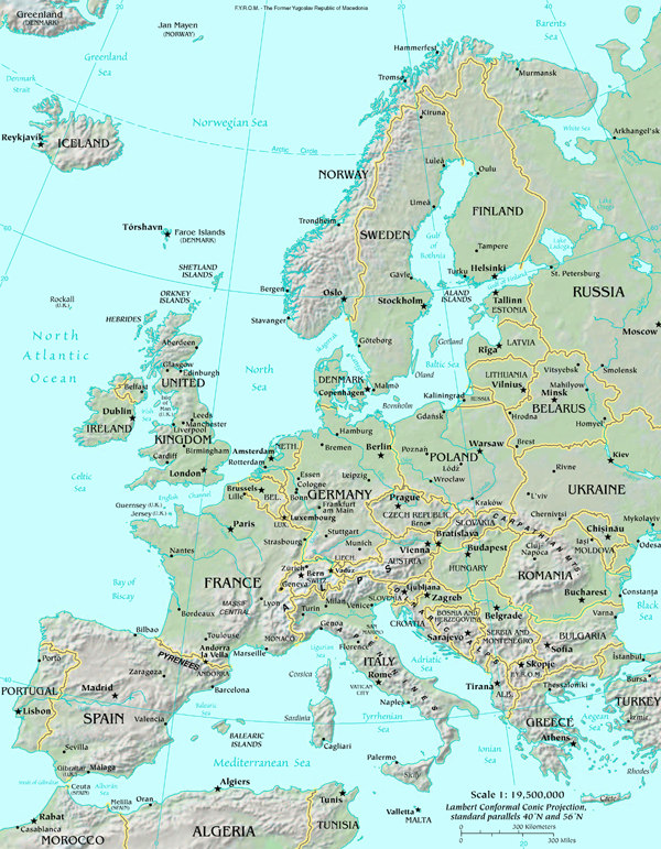 Map of Europe map, Europe Atlas