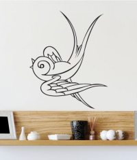 Swallow Tattoo Bird Animal Wall Sticker - World of Wall ...