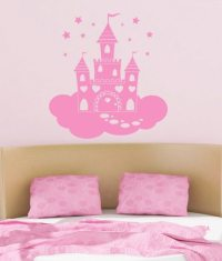 Fairy Princess Castle Childrens Wall Sticker - World of ...
