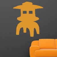 Chinese Lamp Silhouette Wall Sticker - World of Wall Stickers