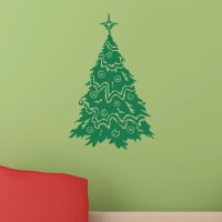 Fancy Christmas Tree Wall Sticker - World of Wall Stickers
