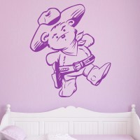 Cowboy Teddy Bear Kids Wall Sticker - World of Wall Stickers