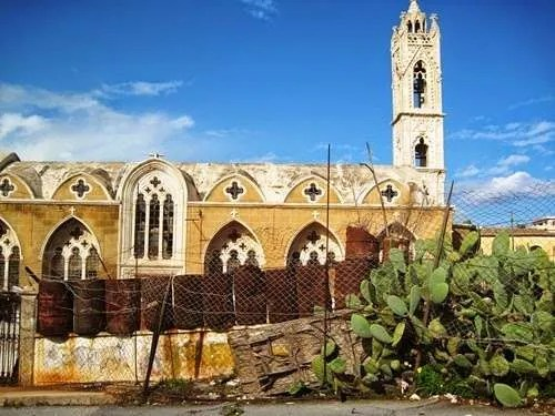 Abandoned church in Varosha, Cyprus