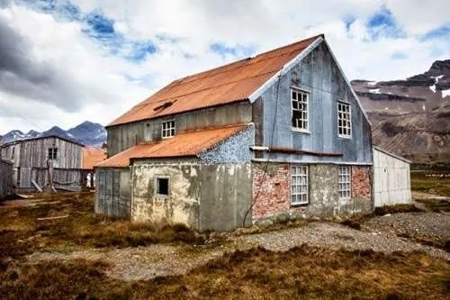 The abandoned settlement of Husvik in South Georgia