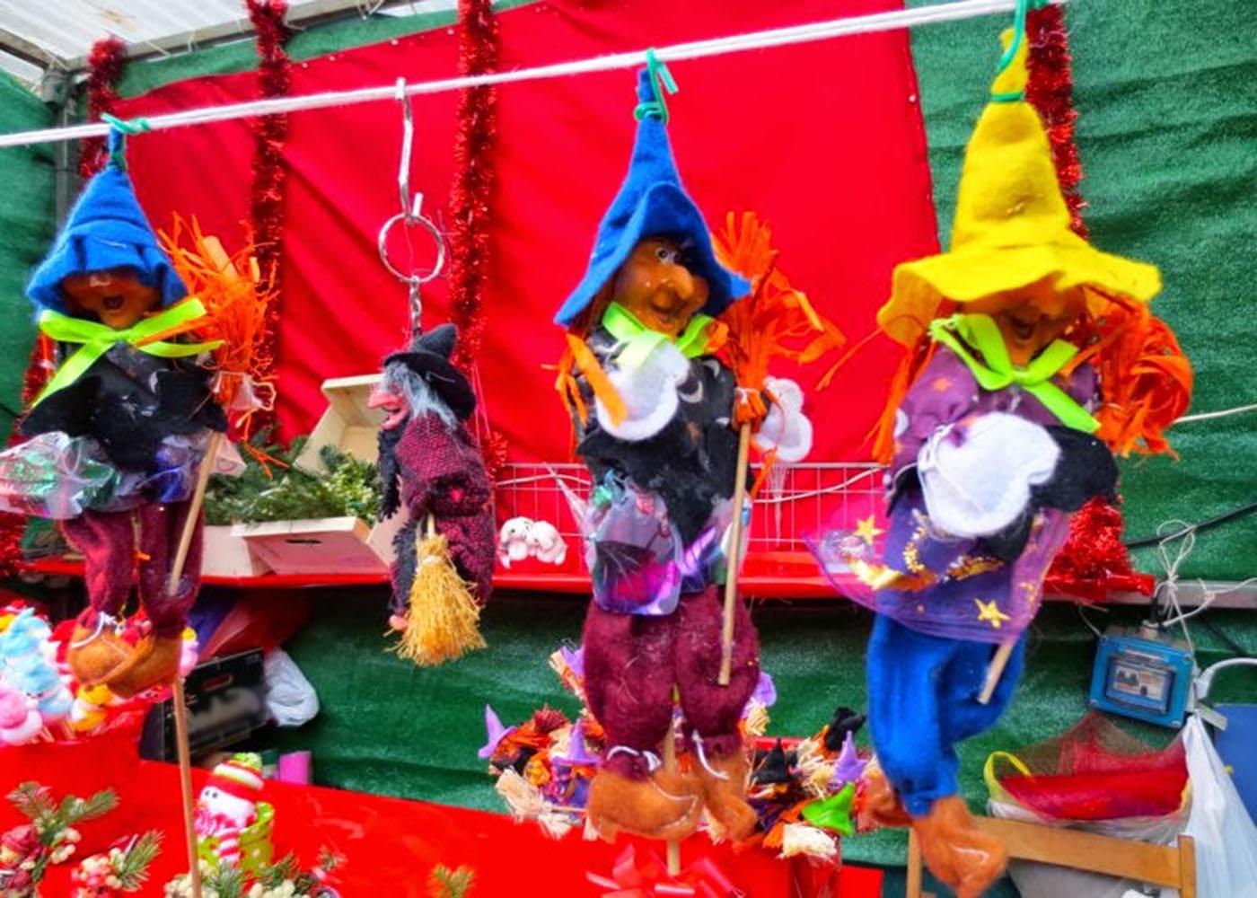 Christmas Market Barcelona Spain Toys Stand
