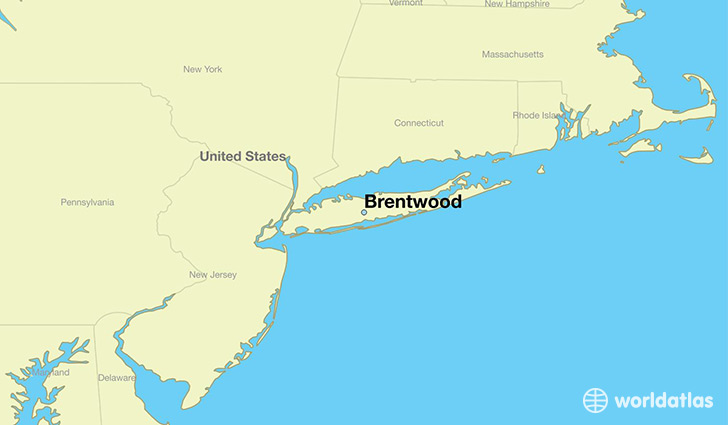 Where is Brentwood, NY? / Brentwood, New York Map - WorldAtlas