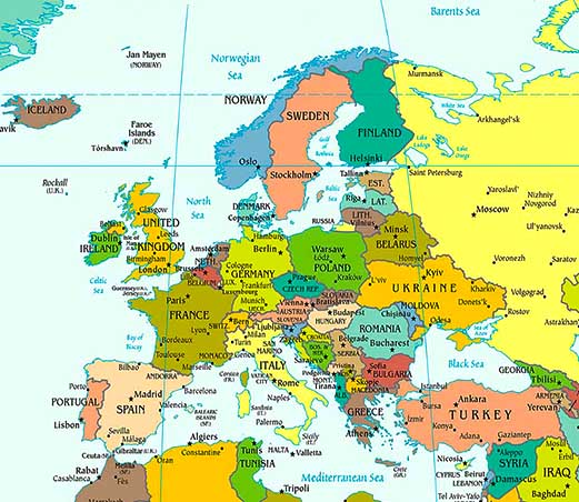 Europe Map / Map of Europe - Facts, Geography, History of Europe