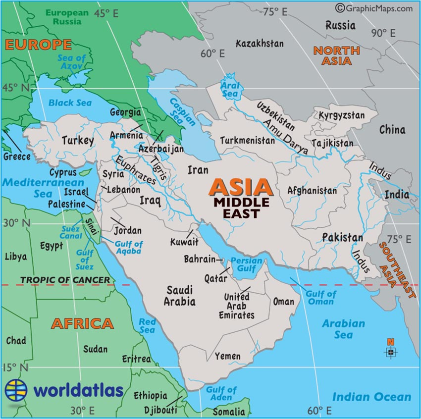 Middle East Map / Map of the Middle East - Facts, Geography, History