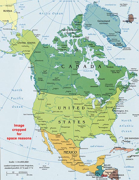 North America Map / Map of North America - Facts, Geography, History