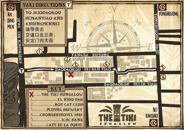 the tiki bungalow beijing map