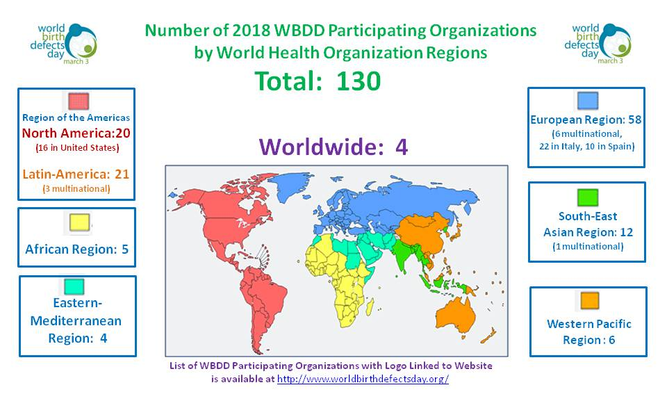 World Map \u2013 World Birth Defects Day