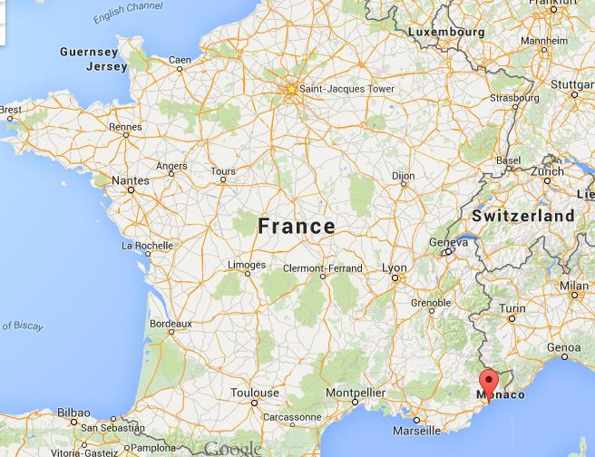 Where is Juan les Pins on map France - pins on a map