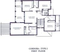 Cordoba Type 2 - First Floor Plan
