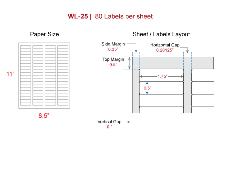 Return address label, same size as Avery® 5167, 8167 laser - inkjet
