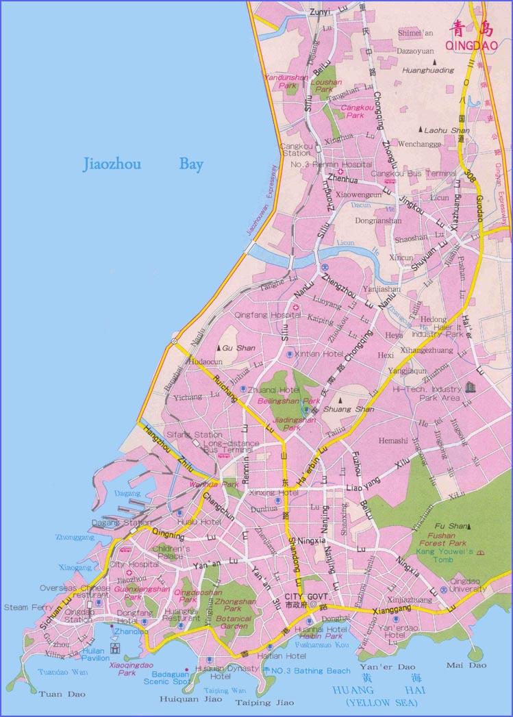 qingdao map