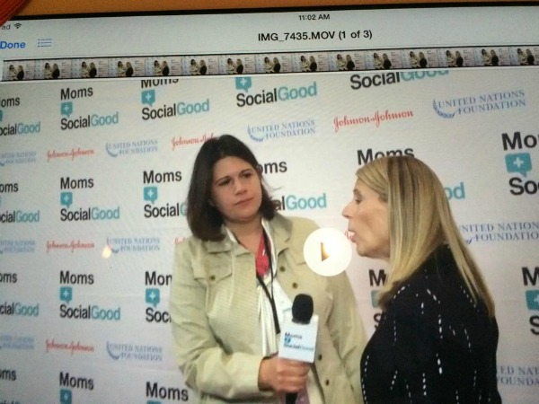 World Moms Blog Founder, Jennifer Burden, interviews Carolyn Miles, CEO of Save the Children at the Moms + SocialGood event in NYC on May 5th, 2016.